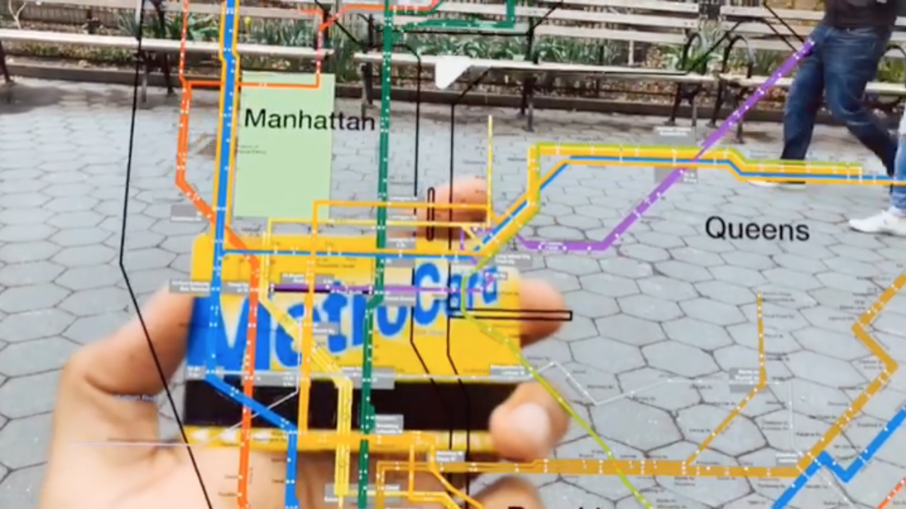 Nyc Subway Map Cards.Augmented Reality Nyc Subway Card And Map Joy Of Computing